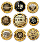 Golden labels collection — Vector de stock