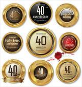 Złoty etykiety — Wektor stockowy