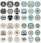 Premium quality labels, collection — Vector de stock
