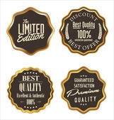 Premium quality golden metal badges — Vecteur