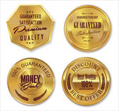 Set of premium quality labels, collection — Vecteur