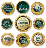 Golden badges collection — Vector de stock