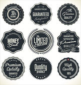 High Quality Labels Set — Stock Vector