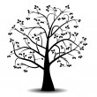 Art tree black silhouette — Stock Photo
