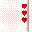 Heart bottons, valentine's day, card, scrapbook, wallpaper — Stock Photo