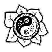 Decorative design sunflower — Stock Photo