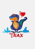Dinosaur — Cтоковый вектор