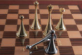 Fallen black chess king — Stock Photo