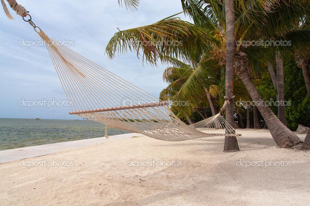 Hammock on the beach — Stock Photo © valerianic #29610569