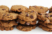 Peanut Butter Chocolate Chip Vegan Cookies — Stock Photo