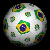 トランスファーならびに mit fahne brasilien — ストック写真