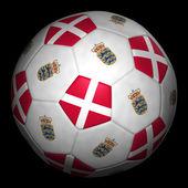 Fussball mit Fahne Dänemark — ストック写真