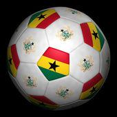Fussball mit fahne ghana — Stockfoto