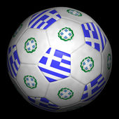 Fussball mit Fahne Griechenland — Stock Photo