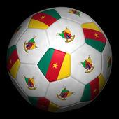 Fussball mit Fahne Kamerun — Stock Photo