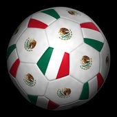 Fussball mit fahne mexiko — Stockfoto