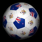 Fussball mit fahne neuseeland — Stock fotografie