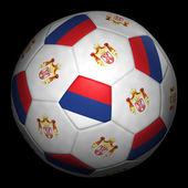 Fussball mit Fahne Serbien — Stock Photo