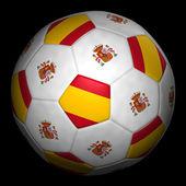 Fussball mit Fahne Spanien — Foto de Stock