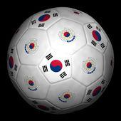 Fussball mit Fahne Südkorea — Stock Photo