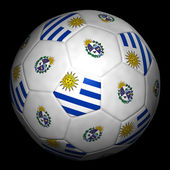 Fussball mit Fahne Uruguay — Stock Photo