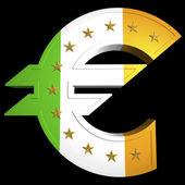 Fett Euro, irland — Stockfoto