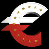 şişman euro, monaco — Stok fotoğraf
