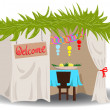 Stock Vector: Sukkah For Sukkot