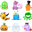 Halloween Monsters Pack — Stock Vector