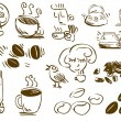 Stock Vector: Coffee Doodles