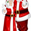 Santa And Mrs Claus Waving Hands For Christmas — Stock Vector #17422065
