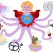 Super Mom - Stock Vector