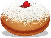 Sufganiyah Hanukkah Donut — Stock Vector