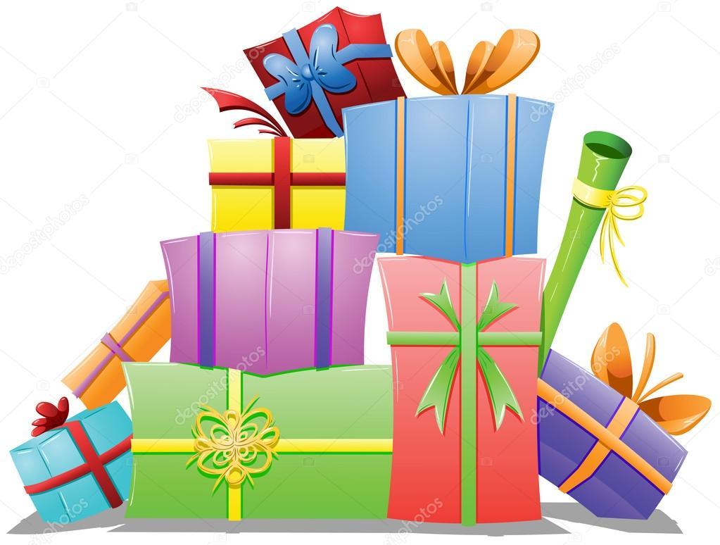 Boîte De Cadeau Le Jour De Noël Clip Art: Image Vectorielle #17421855