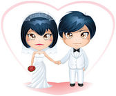 Bride And Groom Getting Married 3 — Stock Vector