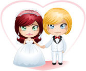 Bride And Groom Getting Married 4 — Stock Vector