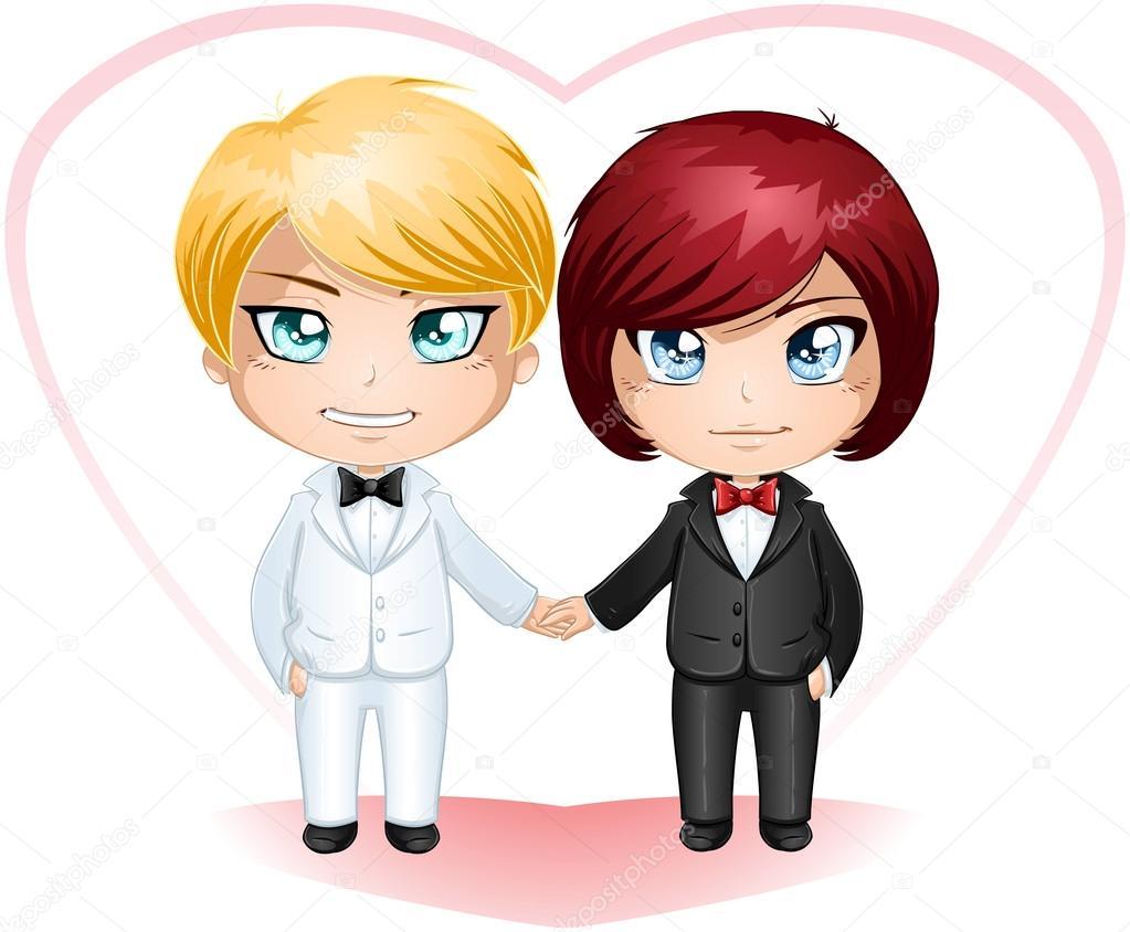 Novios gays conseguir casado 3 — Vector de stock © LironPeer ...