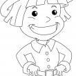 Stock Vector: Settler Boy For Thanksgiving Coloring Page