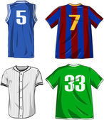 Sports Shirts Pack — Stock Vector