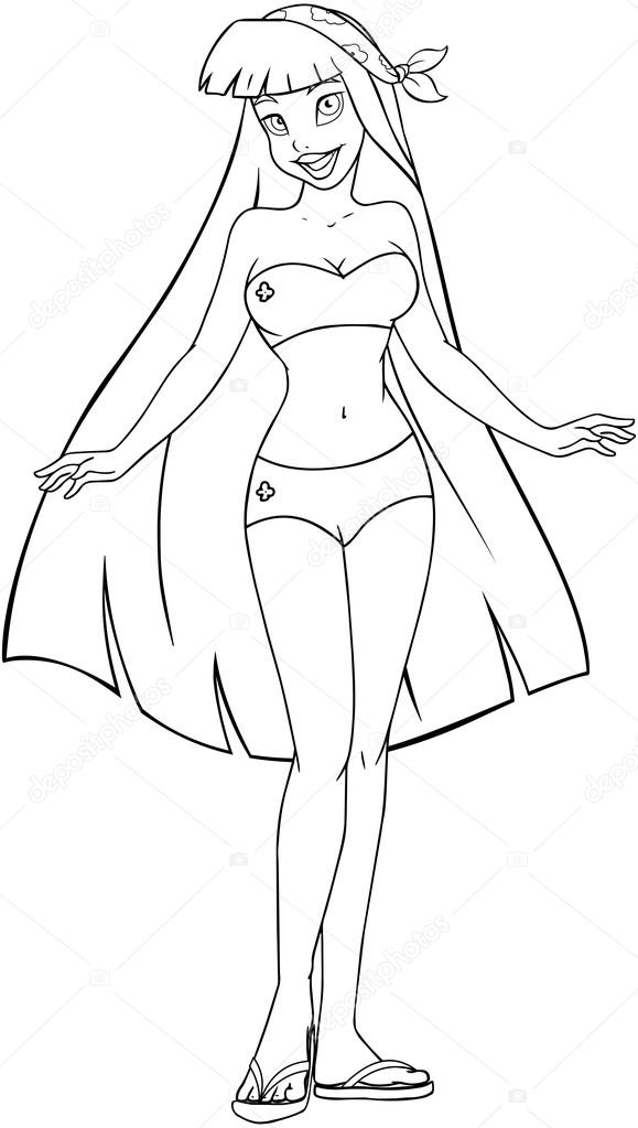 Bathing Suit Coloring Pages