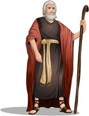 Moses From Bible For Passover — Stockvector