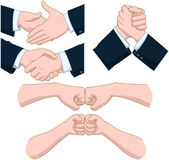 Hand Shakes Pack — Stock Vector