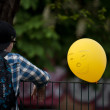 Boy with balloon - Stockfoto