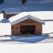 Alpine cabin - Stock Photo