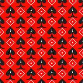 红色背景上的黑色无缝装饰高峰 — 图库矢量图片