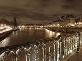 River Seine in winter — Stock Photo