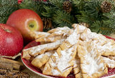 Sweet pastry and apples — Stock Photo