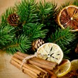 Стоковое фото: Christmas composition with dry spices