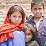 Afgan refugee children — Stock Photo #17388485