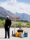 Petrolsation in Tajikistan — Stock Photo